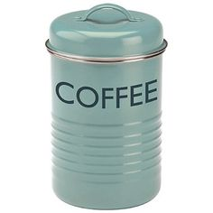 Typhoon® Vintage Kitchen Coffee Canister – Blue  - from Lakeland