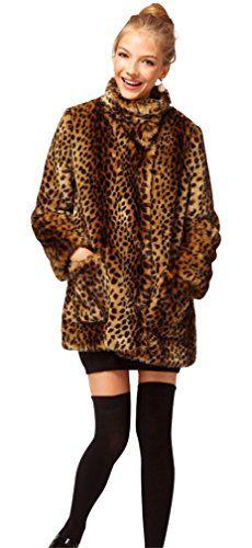 7e40499c1f7c ACE SHOCK Faux Fur Coat Women Leopard Long Winter Warm Jacket Casual Parka  XSL US SizeXS    Click for more Special Deals ...