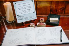 We designed a custom guestbook that went perfectly with the travel theme: a passport! {The Goodness Photography & Design}