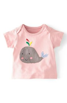 Mini Boden 'Sunny Appliqué' Tee (Baby Girls) available at #Nordstrom