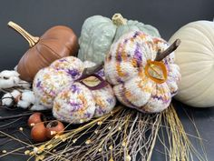 Knit & Crochet Felted Pumpkins by Vickie Howell for YarnYAY!