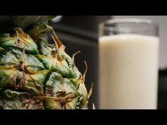 Smoothie de ananas - YouTube Glass Of Milk, Vegan, Drinks, Youtube, Food, Drinking, Beverages, Essen, Drink
