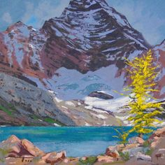 Todd Lachance; Lake McArthur, 12 x 12. I've got one talented cousin !