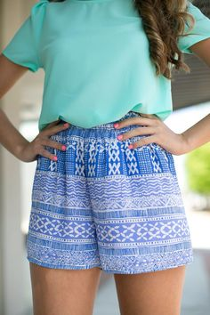 printed shorts