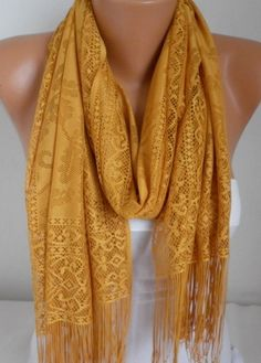 Mustard Tulle Shawl Scarf  Cowl  Bridesmaid by fatwoman I am getting you.