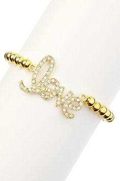 Beaded Love Bracelet