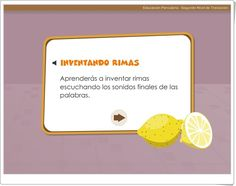 """""""Inventando rimas"""" March 21, Interactive Activities, Teaching Resources, Learning"""
