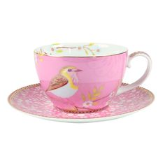 I love love love this cup! Early Bird Cappuccino Cup & Saucer - Pink