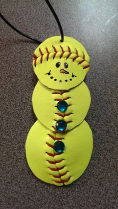 Personalized Softball Snowman Ornament. by 360Softball on Etsy, $10.00