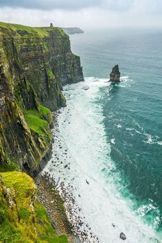 Wanderlust Guide - Complete Ireland Itinerary - - The Cliffs of Moher are one of Ireland's most recognizable landmarks. Finally seeing them in person was one of my favorite parts of our trip to Ireland! Ireland Hiking, Backpacking Ireland, Ireland Travel Guide, Dublin Travel, Galway Ireland, Cork Ireland, Paris Travel, Cool Places To Visit, Places To Travel