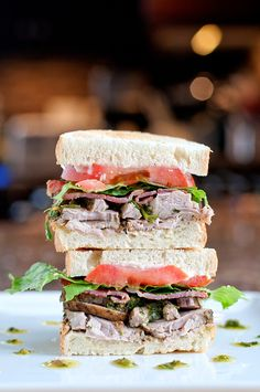 Herb Rubbed Pork Sandwich with Salsa Verde