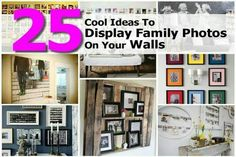 25 ways to display photos