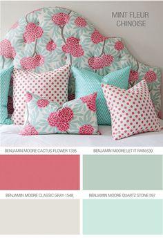 caitlin wilson textiles mint fleur chinoise