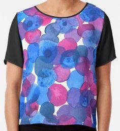 Geometrical Blue and Purple Watercolor Circles Chiffon Top Purple Art, Yellow Art, Green Art, Blue Art, Watercolor Circles, Watercolor Texture, Watercolor Pattern, Abstract Watercolor, Mermaid Art