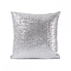 Gümüş Payetli Dekoratif Yastık Kılıfı