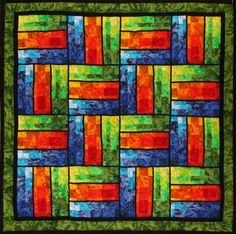 Bargello Rails Quilt Pattern TQS-30 (advanced beginner, wall hanging)- Karen Gibbs- $8.00