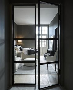 Skillebekk • Slettvoll Divider, Black And White, Bedroom, Interior, House, Inspiration, Furniture, Design, Home Decor