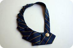 Ne avete sicuramente nell'armadio, vecchie, fuori moda... ecco come potete riciclare cravatte creando qualcosa di veramente geniale!