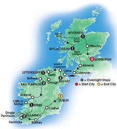 2013 THE SCOTS IRISH & MORE 14 day Escorted Coach Tour - Superior First Class Hotels - Overnights: 2 Edinburgh, 1 Inverness, 1 Ballachulish, 2 Belfast, 1 Letterkenny, 2 Ballyfarnon, 1 Ennis, 2 Killarney, 1 Dublin - Starts Edinburgh, Ends Dublin - CIE Tours WANT TO DO THIS TOUR!!