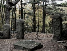 "SpiderGateCemetery: In the center of this odd, forgotten cemetery is what many call ""The Alter Ring""- a barren circle of trees believed to be used as a portal to the dark side. Adventurers have reported finding coins on top of the surrounding grave markers, an act that resembles the Greek practice of paying Charon the ferryman to take you across the River Styx."