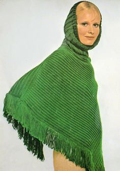 Knitting Pattern, Hooded Poncho Knitting Pattern, INSTANT Download Pattern PDF (2602)