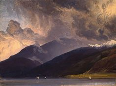 Balestrand on the Sognefjord, ca 1839, Thomas Fearnley. Norwegian (1802 - 1842)