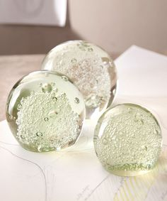 Bubble Sphere Paperweights - Decorative Objects