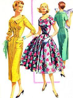1950's dress patterns | 1950s Dress Pattern McCalls 3426 Sheath or ... | sewing patterns / tu ...