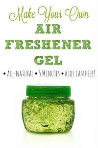 Homemade Air Freshener Gel | Skip the fake-smelling commercial air freshener gels and make your own using fragrances YOU like! It's so easy to do that even the kids can help. #cleaning #airfreshener #fragrance