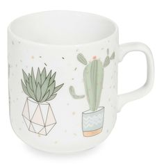 Perfect gift for plant lovers | CACTUS white china cup | Maisons du Monde | Urban Garden
