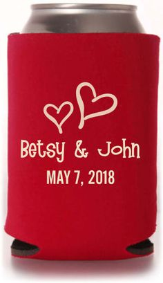 Engagement & Save the Date Wedding Designs. This item has 6 different koozie product options to customize: Collapsible Foam, Bottle Sleeve, Can Sleeve, Zippered Bottle, Indestructible Foam & Neoprene! #wedding #koozies #favors #neoprene #bottlekoozies #engagement #savethedate