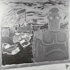 The Iron Man Ted Hughes Display