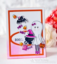 Boo To You Card by Betsy Veldman for Papertrey Ink (August 2016)