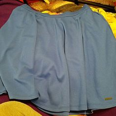 Brand new blue skirt from Abercrombie & Fitch Brittany blue skirt from Abercrombie & Fitch size medium but could feed a small medium in possibly a large medium. Brand new never worn no tags perfect condition. Super comfy. Abercrombie & Fitch Skirts Mini
