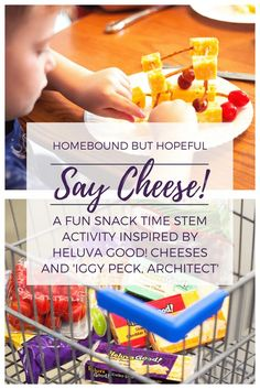 Say Cheese! (ad) Your kids will love this super fun snack time idea inspired by Heluva Good! Cheese Blocks! Children can work on STEM, fine motor, cooking, and problem solving skills while they channel their inner Iggy Peck, Architect. Sometimes, playing with your food IS a good thing! #HeluvaGoodSummer #IC @heluvagood