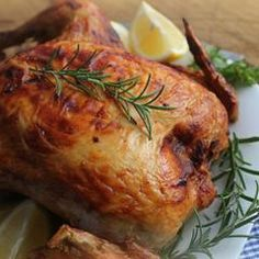 Prep and cook time: hours Serves 4 2 Cornish hens, halved ¼ cup toasted sliced almonds 3 tablespoons drained capers 3 tablespoons Cornish Hens, Clean Eating Dinner, Sliced Almonds, Sicilian, Poultry, Slow Cooker, Turkey, Stuffed Peppers, Lemon Chicken