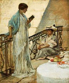 The Landing. Rupert Charles Wulsten Bunny (1864-1947) Australian painter.