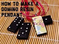 Domino resin pendant tutorial #resin