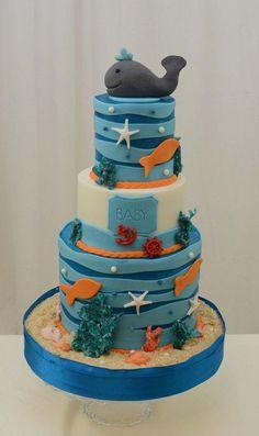 Sea Themed Baby Shower Cake - CakesDecor