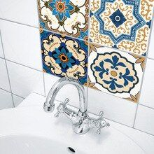 Creative home decoration morocco style tile sticker bedroom living room bathroom wall sticker PVC waterproof oilproof sticker Bathroom Wall Stickers, Cheap Wall Stickers, Wall Stickers Murals, Bathroom Art, Kitchen Backsplash Peel And Stick, Kitchen Tiles, Wc Set, Decorative Wall Tiles, Moroccan Tiles