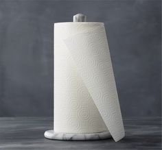 French Kitchen Marble Paper Towel Roll Holder   Remodelista $20 C&B