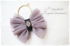 【1点のみ】チュールのりぼんのヘアゴム(purple)