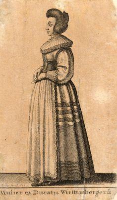 """Wenceslas Hollar, 1643 """"Mulier ex Ducatu Wirttembergensi"""""""