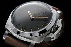 Panerai 372. Clasic & vintage colors for 47mm built in 1950 case with sapphire back to admire the P3000 caliber. So close to perfection!