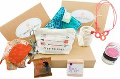 A subscription box filled with hand-made items made by survivors of human trafficking and refugees!