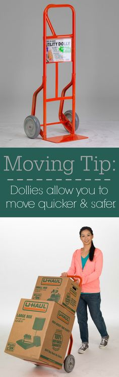 Save you back! Utility #dollies allow you to easily move the heavier items. #movingtip