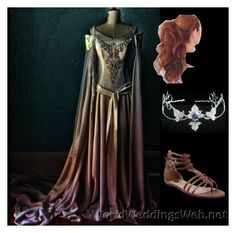 """""""Celtic princess"""" by lisa-howlin on Polyvore featuring dress, princess, long and celtic"""