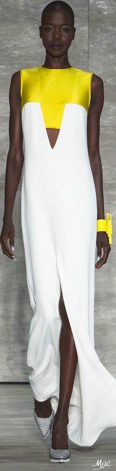 Spring 2015 Ready-to-Wear Angel Sanchez Only Fashion, Fashion Art, Fashion Beauty, Fashion Design, Angel Sanchez, Open Dress, Designer Gowns, Spring 2015, Fashion Details