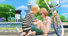 Sims 4 Couple Poses, Kid Poses, Couple Posing, Sims 4 Children, 4 Kids, My Sims, Sims Cc, Sims 4 Family, Sims 4 Black Hair