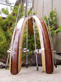 Custom Wood Bicycle Fenders 700c or 26 inch by woodysfenders, $140.00 > wished these would look good on Doris!